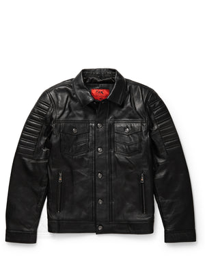 Men's Moto Denim Black Jacket
