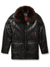 Goose Country Men's Bubble Jacket: Black Leather