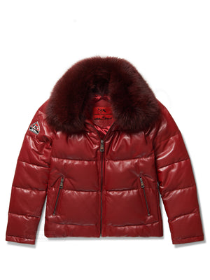 Women's Ava Bubble Jacket Burgundy