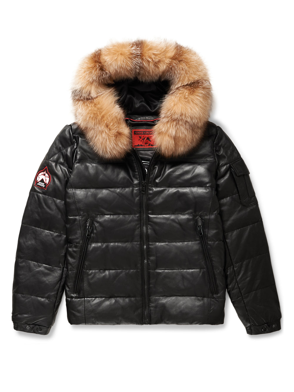 29a7f38dd0d Goose Country Men's Bubble Jacket: Black Leather – GOOSE COUNTRY