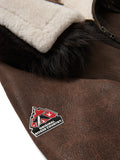 Women's Grace Sheepskin Shearling Bomber Brown