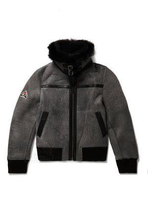 Women's Grace Sheepskin Shearling Bomber Grey
