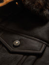 Men's Sheepskin Shearling Jean Jacket Brown