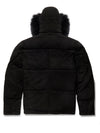 Men's Leon Suede Bubble Jacket Black