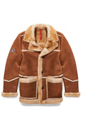 Mens 3/4 Quarter Marlboro Sheepskin Shearling Jacket Camel