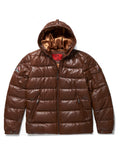 Men's Bubble Jacket Brown Leather