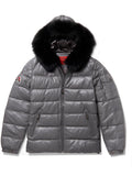 Men's Bubble Jacket Grey Leather