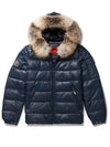 Men's Bubble Jacket Navy Leather