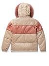 Women's Mia Bubble Jacket Pink/Beige