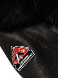 Women's Moto Racer Sheepskin Shearling Black