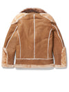 Men's Moto Racer Sheepskin Shearling Camel