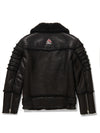 Men's Moto Sheepskin Shearling Jacket Black