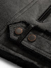 Men's Moto Sheepskin Shearling Jacket Grey