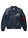 Black By Goose Country MA-1: Navy Leather