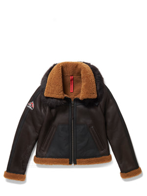 Women's Nora Sheepskin Shearling Bomber Brown