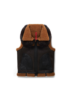 Women's Reina Sheepskin Shearling Brown Vest
