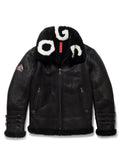 Mens Rocker Shearling Jacket Black