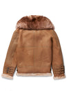 Mens Rocker Shearling Jacket Camel