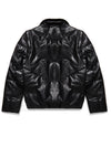 New Men's V-Bomber Black w/ Detachable Sleeves Mink Fur
