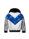 Women's V-bomber In White/Blue/Snake Print