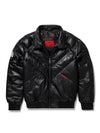 New Men's V-Bomber Black w/Crystal Fox Fur