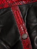 New V-Bomber Two-Tone: Black Leather & Red Python Skin