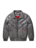 New V-Bomber Grey Leather w/ Silver Fox Fur