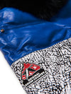New Men's V-Bomber White/Blue/ Snake Print