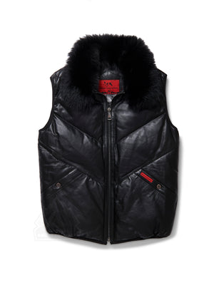 Mens Bubble V-Vest Black