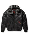 Black By Goose Country Men's Racer Hoodie: Black Leather