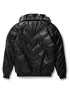 Goose Country V-Bomber: Black Leather w/ Chinchilla Collar