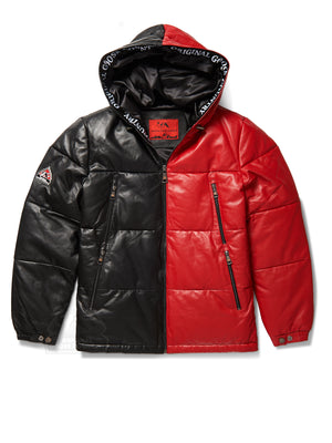 Men's Yukon Bubble Jacket w/ Hood Black & Red