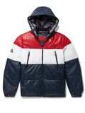 Men's Yukon Bubble Jacket w/ Hood Navy/Red/White