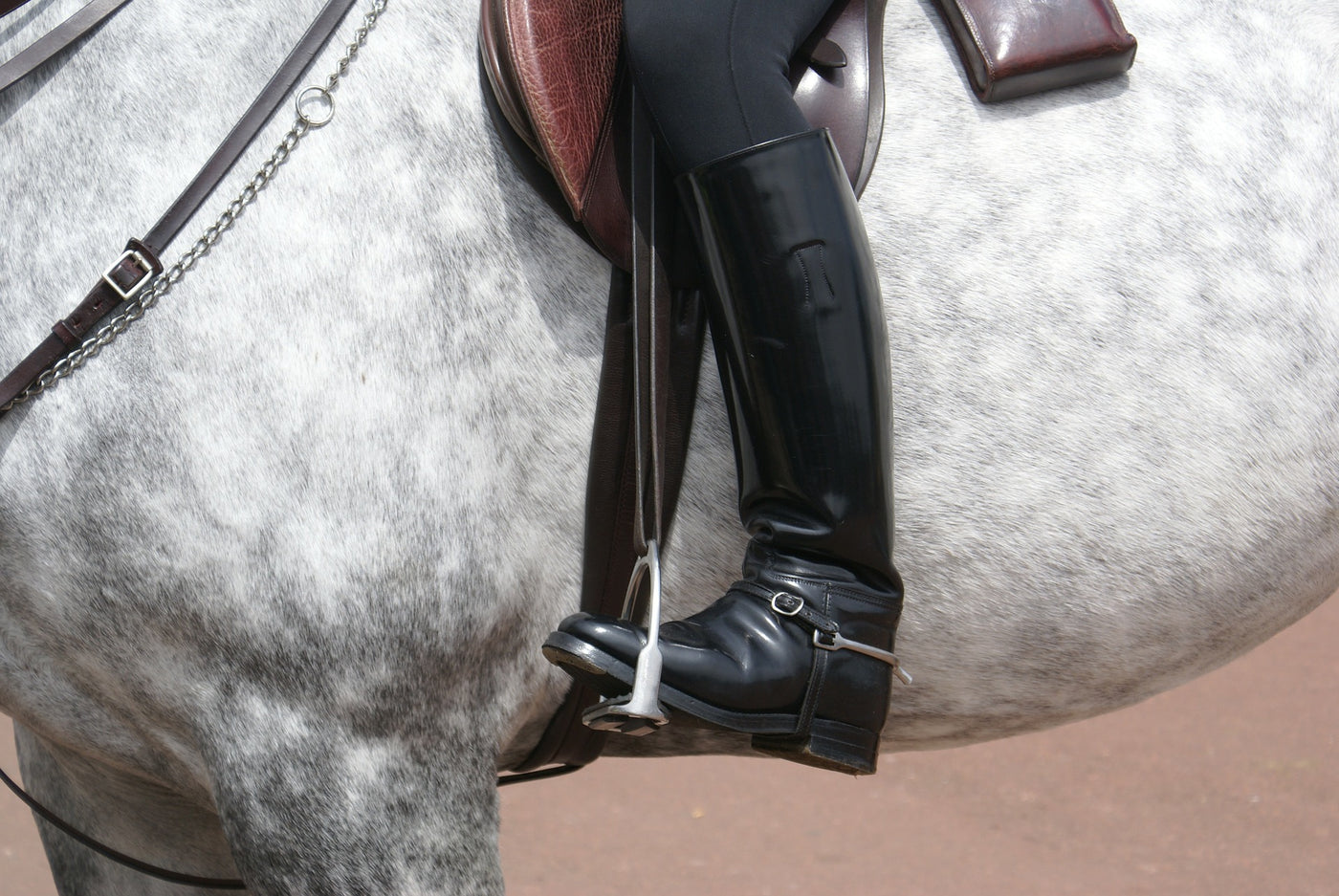 Keeping your heels down when riding