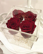 CLASSIC LOVE CRYSTAL BOX (Red) by Fleurs D'épargne