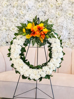 Heavenly Round Funeral Wreath | Vancouver & Red Deer Florist | House of Fiori