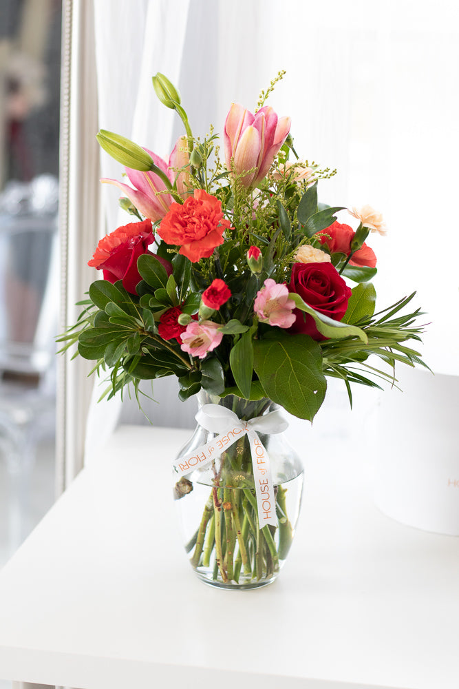 Vase arrangement flower delivery in Red Deer Alberta