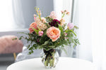Soft and Subtle vase arrangement flower delivery in Red Deer Alberta