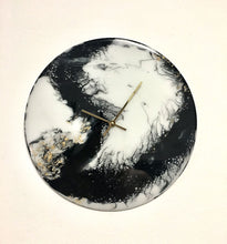 Load image into Gallery viewer, Copy of Resin Art Wall Clock - CHARCOAL RIVER