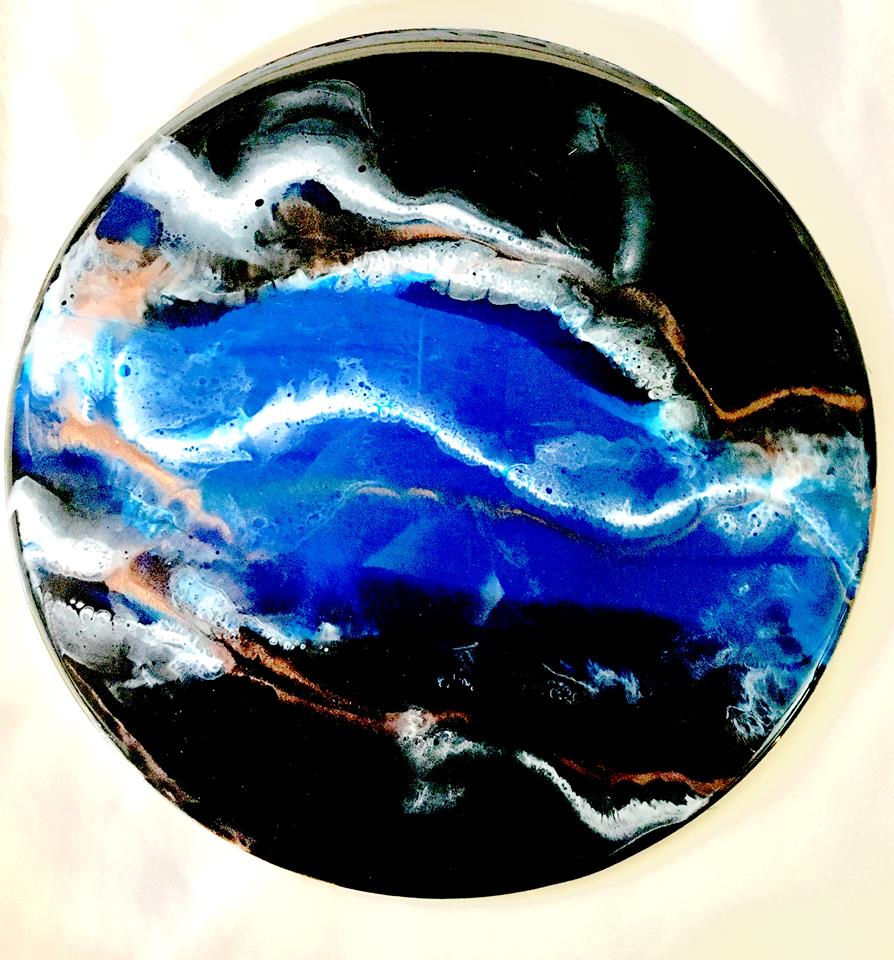 Resin Art - BLUE TOPAZ