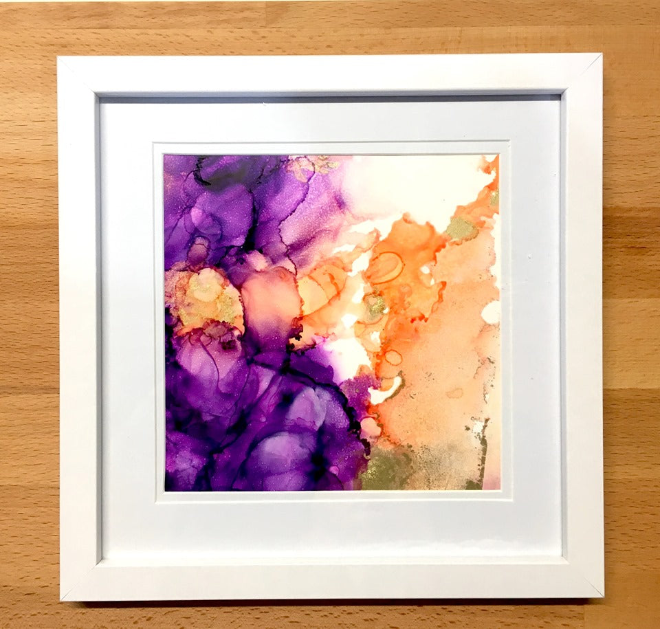 Small orginial Alcohol Ink Art