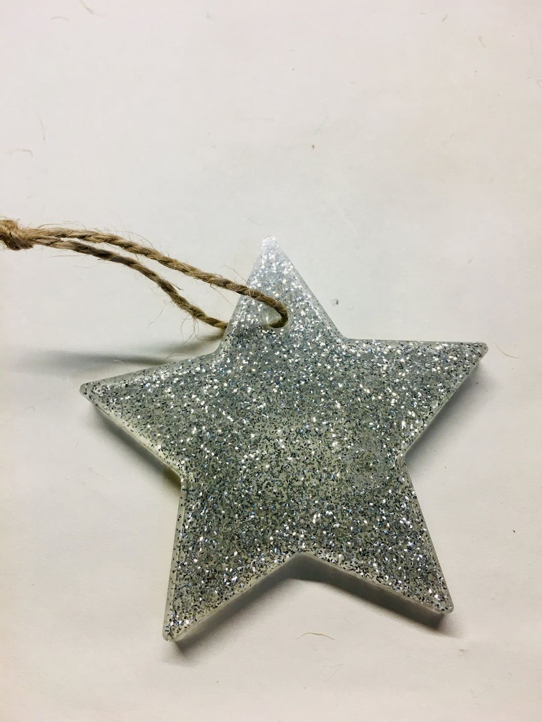Single silver glitter Christmas star 🌟
