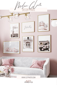 Affordable Modern Glam Decor