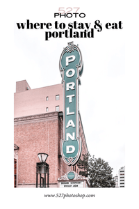 Where To Stay and Eat in Portland