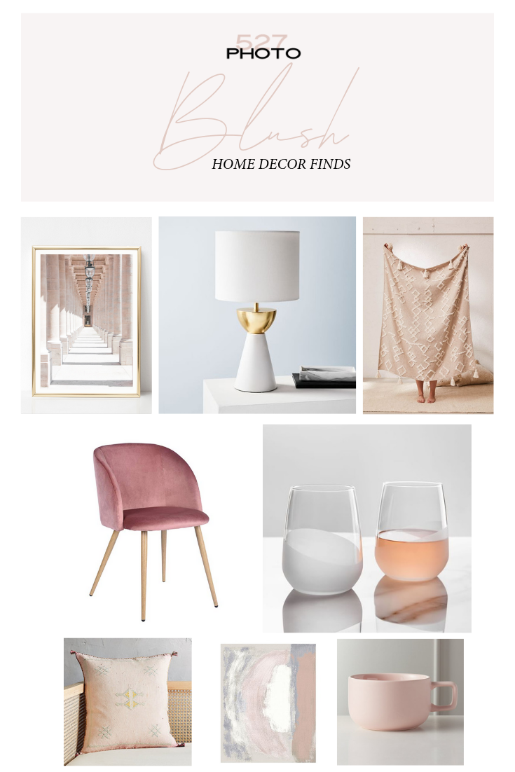 BLUSH PINK HOME DECOR ACCENTS