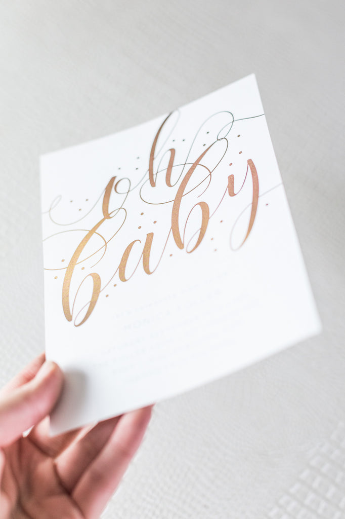 Foil Baby Shower Invitations