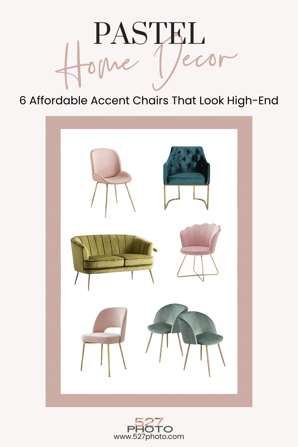 Affordable pastel accent chairs