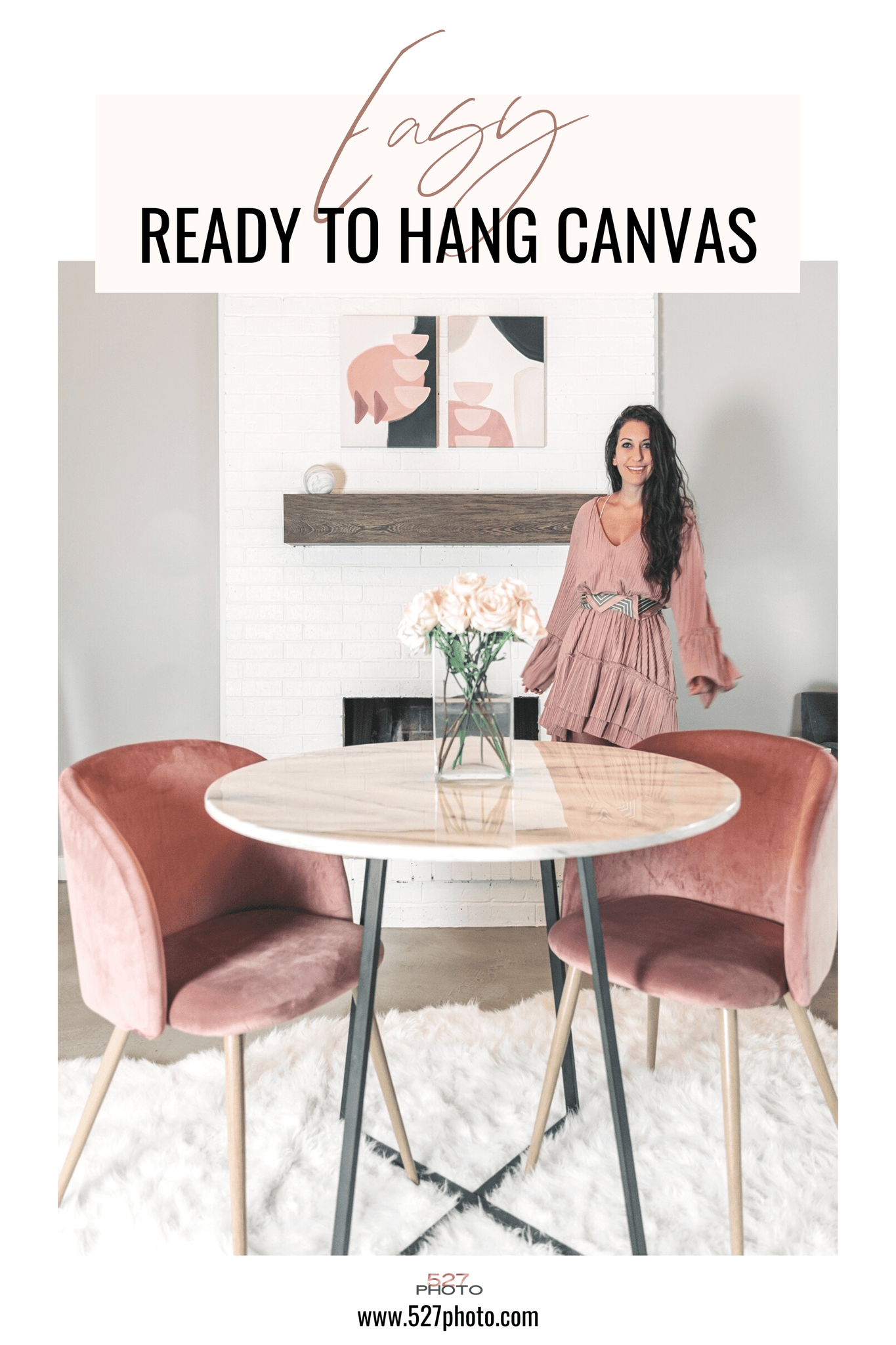 Easy ready to hang canvas wall art decor