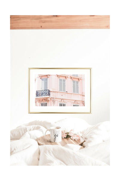 pink wall art prints