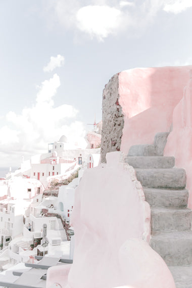 SANTORINI GREECE WALL ART PRINTS